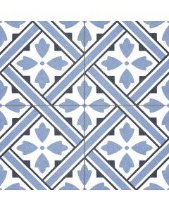 Blue Victorian Style Patterned Floor Tile - Albert Range | Tiles360