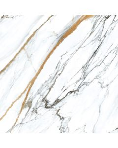 Gold and Grey Marble Effect Wall and Floor Tile - Aris Range | Tiles360