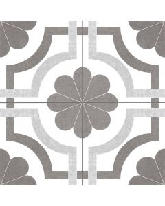 Grey and White Patterned Floor Tile - Victorian Collection | Tiles360