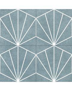 Geometric Patterned Floor in Aqua Green - Consort Range |Tiles360