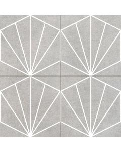 Geometric Patterned Floor in Grey - Consort Range |Tiles360