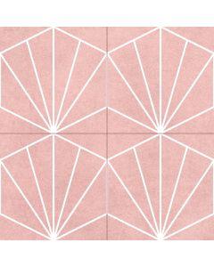 Geometric Patterned Floor tile in Pink - Consort Range |Tiles360