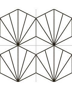 Geometric Patterned Floor Tile in White - Consort Range |Tiles360