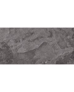 Slate Effect Floor Tile - Black 909mm x 455mm |Tiles360