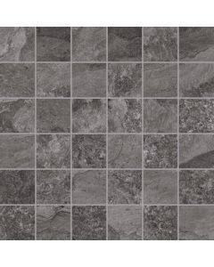 Mosaic Wall and Floor Tile - Slate Effect Black |Tiles360