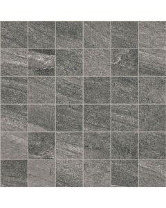 Stone Effect Wall and Floor Mosaic Tile Graphite - Estuary Range | Tiles360