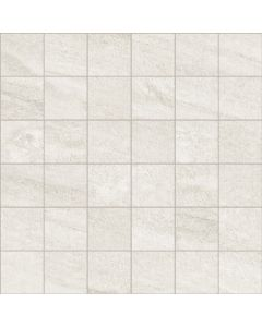 Stone Effect Wall and Floor Mosaic Tile White - Estuary Range | Tiles360