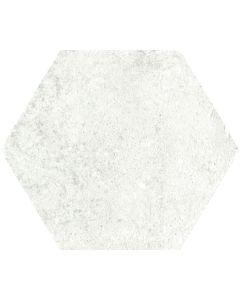 White Hexagon Stone Effect Floor Tile - Felix Range |Tiles360