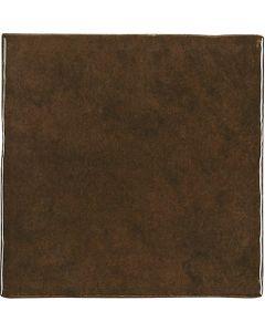 Brown Glossy Retro Square Wall Tiles - Gemma Range |Tiles360