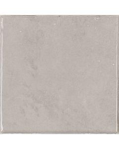Silver Grey Glossy Retro Square Wall Tiles - Gemma Range |Tiles360