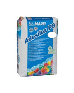 White Wall and Floor Adhesive P9 20kg  | Tiles360