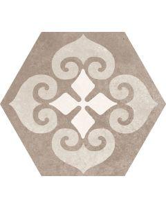 Hexagon Decorative Wall and Floor Tile Beige - Metropolitan Range   Tiles360
