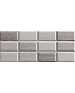 Bathroom Decor Gloss Wall Tile Grey - Milas Range |Tiles360