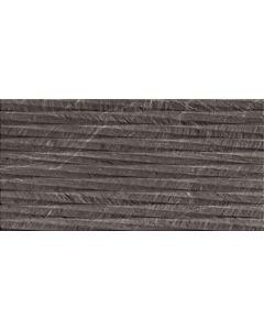 Dark Grey Stone Effect Decor Wall Tile - Snowdon Range | Tiles360