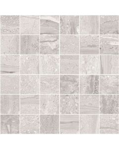 Stone Effect Wall and Floor Tile Mosaic Graphite - Strata Range | Tiles360