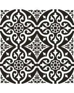 Victorian Black and White Patterned Floor Tile| Tiles360