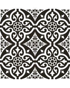 Victorian Black and White Patterned Floor Tile| Tiles360