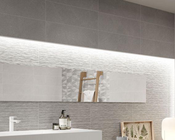 Bathroom Decor Wall Tiles In Light Grey Thailand Range Tiles360
