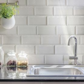white metro wall tiles
