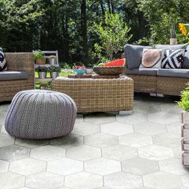 Outdoor Hexagon Tiles