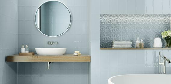 Honor Blue Bathroom Tiles